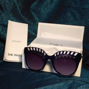 Furla Sunglasses sfu150 rare color Cateye NIOB